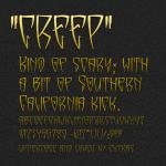 Creep Font