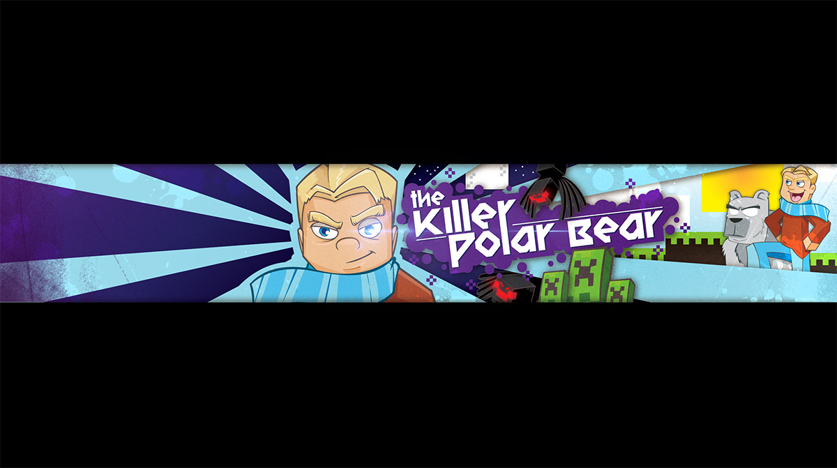Evan Eckard » Design Challenge: YouTube Banner Using All Original Work